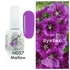 SYSTER 15ml Nail Art Soak Off Color UV Lamp Gel Polish N057 - Mallow