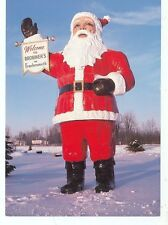 FRANKENMUTH, HUGE SANTA WELCOME SIGN CHRISTMAS ON POSTCARD (CD#67*)