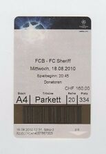 Orig.Ticket    Champions League  2010/11    FC BASEL - FC SHERIFF TIRASPOL  !!