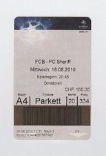 Orig.Ticket    Champions League  2010/11    FC BASEL - FC SHERIFF TIRASPOL  !!