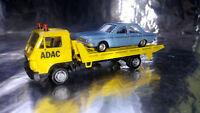 * Herpa Basic 094191A1BL  MAN G 90 Wrecker ADAC with Audi 100 LS Car load