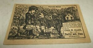 Vtg Tobacco Puzzle Trade Card - Darby and Joan Tobacco - OLD