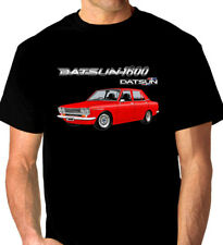 Datsun 1600 510 Sedan Quality Black Tshirt ( 9 Car Colours) Big Fit