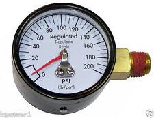 """[DEWA] [A10691] DeWalt Air Compressor Gauge 2"""" 200psi 1/4"""" Offset Side Mount"""