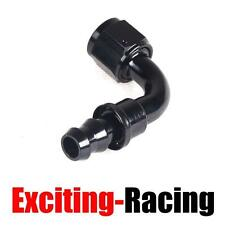 AN12 90 Degree Push On Lock Oil Fuel Line Hose End Fitting Adaptor Black -12AN