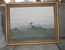 1947 Landscape Oil Painting by Monterrey Artist Martin Looney