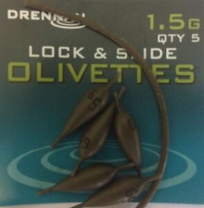 DRENNAN POLEMASTER LOCK AND SLIDE OLIVETTES - POLE ACCESSORIES - RIG WEIGHTS