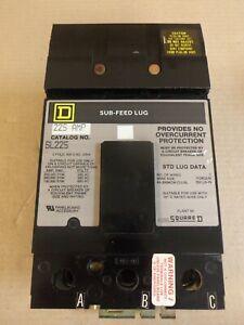 "New Square D SL225 3 Pole 225 Amp 600V Gray Sub Feed Lug Circuit Breaker ""AK"""