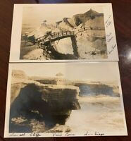 2 San Diego California CA Vintage Postcards - Point Loma Sunset Cliffe RPPC