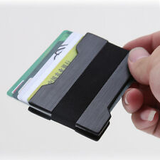 Men Slim Front Pocket Black Wallet Credit Card Holder Money Clip Thin RFID Block