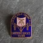 Vintage Pin - Shriners Masonic Jackson Hole Lapel Cutter Races Cloisonne 1990