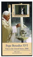 Ghana Bl?cke Besuch Papst Benedikt in den United States postfrisch (MNH)