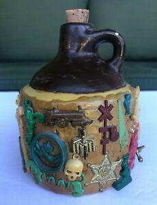 Vintage Brown Jug Kids' Toys 50s 60s Treasures Buried Kitsch Weird Comes w Cork