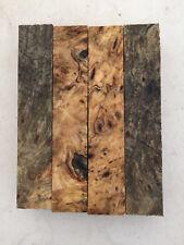 "Buckeye Burl Pen Blanks Rod Seat 1 x 1 x 6"" - 4 pieces-  Exotic Wood - #855"