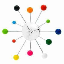 Karlsson Mixed Spider Multi-Colour Steel and Chrome Wall Clock Home Office