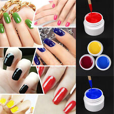 36pcs Mix Colors Pots Tips Builder Cover UV Nail Art Gel Manicure Decor Set