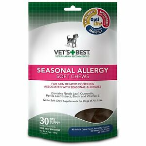 Vet's Best Seasonal Allergy Soft Chews for Dogs 4.2 oz
