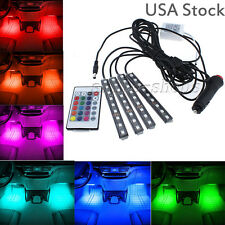 RGB Colored LED Glow Interior Car Kit Under Dash Foot Floor Seat Accent Light -a