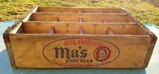 MA'S OLD FASHION ROOT BEER SODA WOODEN CRATE BOX - TRUE FRUIT CO WILKES-BARRE PA
