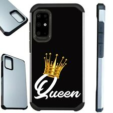 FUSION Case For Samsung Note 20 10 S20 Hybrid Phone Cover QUEEN CROWN