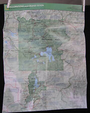 1989 National Geographic Map - Yellowstone and Grand Teton  - 16 x 21 inches