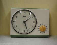 orig. 50° Anni '60 orologio cucina con Cronometro parete Garant Batteria