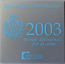 Offizieller KMS San Marino 2003, 8,88 €, BU, in Folder, Kursmünzsatz, incl. 5 €