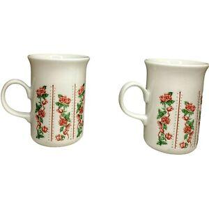 Churchill Pink Trellis Roses Mug Made in England Set Of 2