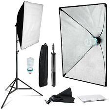 Softbox Continuous Lighting Stand Kit Photo Video for Photography Studio