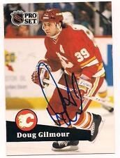 1991/2 Pro Set HOF Auto Doug Gilmour Calgary Flames