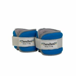 TheraBand Ankle & Wrist Weight Set 2.5lb Each Adjustable Rehab Exercise 5lb/Pair