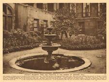 Drapers' Hall. Mulberry tree fountain garden. Throgmorton Street 1926 print