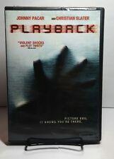 Playback (DVD,2012) Christian Slater - Free Shipping