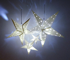 4 Size Hanging set White Paper Star Lantern Wedding Birthday Party Decorations