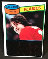 1980-81 TOPPS KENT NILSSON RC FLAMES LEADERS UNMARKED CHECKLIST #106 NMT-NMT/MT