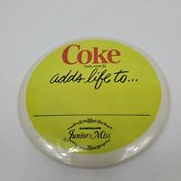 Vintage Rare Coke Coca-Cola 1970s Junior Miss Pin Pinback Button Adds Life To Ad