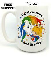 Rainbow Brite and Starlite,Birthday, Christmas Gift, White Mug 15 oz, Coffee/Tea