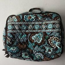 Vera Bradley Retired Java Blue Quilted Cosmetic Travel Bag