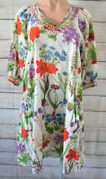 Cake Dress Tunic Smock Shift Size Extra Small 6 8 10 Red Blue Green Floral