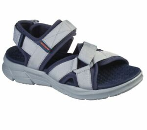 Man Skechers Equalizer 4.0 Sport Casual Sandals 237050 Charcoal Navy Brand New