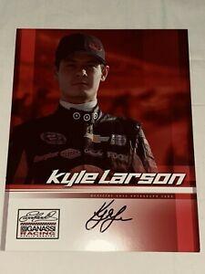 Kyle Larson EARNHARDT GANASSI TARGET SPRINT CUP SERIES NASCAR signed photo