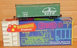 Roundhouse Anheuser Busch BUDWEISER Beer Car 36' Billboard Reefer #16494 w/ KD's
