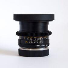 MINT Leica R 35mm f2 Summicron Cinevized Leitax Canon EF 80mm Fronts Focus Gears