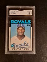 GEM MINT 10 💥 1986 Topps Traded #50T Bo Jackson Rookie Card RC PSA comp