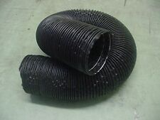 """Pontiac 4"""" Black Flexible Air Cleaner Intake Tube Hose Defroster SOLD BY FT Nos"""