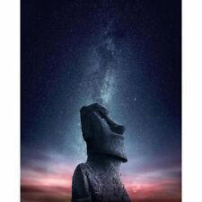 Drill Diamond Painting Kit Like Cross Stitch Moai Easter Island Statue ZY116C