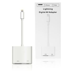 For Apple iPhone iPad 8 7 10.2inch Air 3 iPhone 12 To HDMI Digital AV TV Adapter