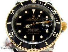 Mens Rolex Watch Collection Submariner Yellow Gold and Steel 16613