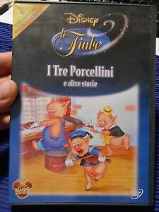 """DVD USATO - DISNEY LE FIABE """" I TRE PORCELLINI e ALTRE STORIE """""""
