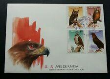 Macau Macao Bird Of Prey 1993 Eagle Owl Fauna Wildlife 澳门猛鸟 (stamp FDC)